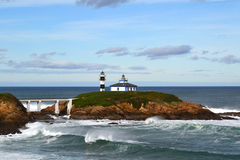 Lighthouse in Ribadeo, Lugo, Spain Stock Image