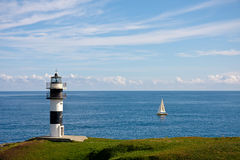 Lighthouse of Ribadeo, Spain Royalty Free Stock Photos