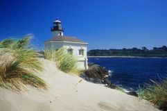 Lighthouse and river Stock Photo