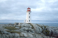 Lighthouse on Rock Stock Photography
