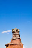 Lighthouse rock formation in Palo Duro Canyon, USA. Lighthouse rock formation against blue sky in Palo Duro Canyon, Texas, USA Royalty Free Stock Images