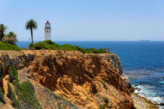 Lighthouse on the rock, Los Angeles, California Stock Photo