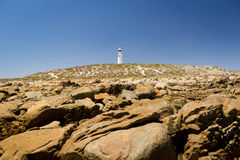 Lighthouse and Rocks Royalty Free Stock Photography