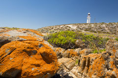 Lighthouse and Rocks Royalty Free Stock Images