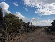 Lighthouse and rocks, Pantelleria, Sicily, Italy royalty free stock photo
