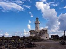 Lighthouse and rocks, Pantelleria, Sicily, Italy stock photo