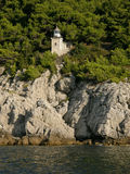 Lighthouse on the rocks Royalty Free Stock Image