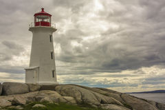 Lighthouse on Rocky Cliff Royalty Free Stock Photo