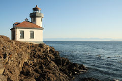 Lighthouse on Rocky Point Stock Photography