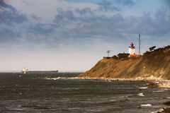 Lighthouse at Roesnaes, Denmark Royalty Free Stock Photography