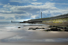 The Lighthouse. Roker Lighthouse taken from the beach stock images