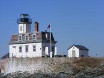 Lighthouse. Rose Island lighthouse on Rose island Royalty Free Stock Image