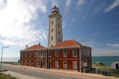 Lighthouse São Pedro de Moel in Portugal Stock Photos