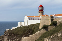 Lighthouse of Sagres, most western point in Europe Stock Image