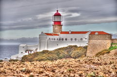 Lighthouse of Sagres, Portugal Royalty Free Stock Photography