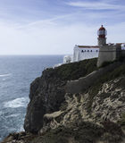 Lighthouse of sagres in south portugal Royalty Free Stock Photo