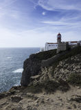 Lighthouse of sagres in south portugal Royalty Free Stock Photos