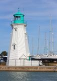 Lighthouse & Sailboats Stock Images