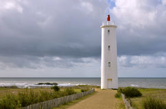 Lighthouse of Saint Gilles Croix de Vie in France Royalty Free Stock Images
