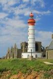 Lighthouse Saint Mathieu, Brittany, France Stock Photos
