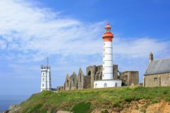 Lighthouse Saint Mathieu, Brittany, France Royalty Free Stock Image