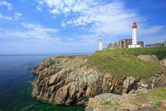 Lighthouse Saint Mathieu, Brittany, France Royalty Free Stock Photography