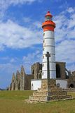 Lighthouse Saint Mathieu, Brittany, France Stock Photo