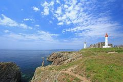 Lighthouse Saint Mathieu, Brittany, France Royalty Free Stock Photos