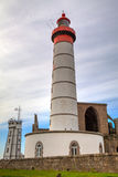 The Lighthouse of Saint Mathieu, Finistere, Brittany, France Royalty Free Stock Photo