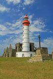Lighthouse Saint Mathieu, France Stock Photo