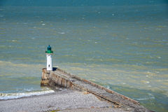 Lighthouse of Saint Valery en Caux, Normandy Stock Images