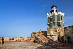 Lighthouse San Felipe Del Morro Royalty Free Stock Images