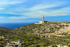 Lighthouse in San pietro island Royalty Free Stock Photos