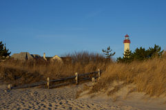 Lighthouse in Sand Dunes Stock Images