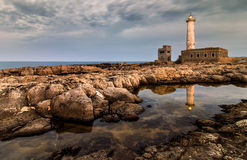 Lighthouse Santa Croce reflection Stock Images