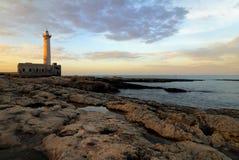 Lighthouse Santa Croce stock photos