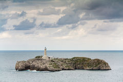 Lighthouse in Santander Stock Photography