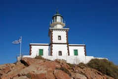 Lighthouse in Santorini Royalty Free Stock Photo