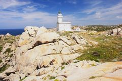 Lighthouse in Sardinia Royalty Free Stock Photography