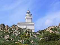 Lighthouse, Sardinia, Italy Stock Images