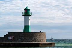 Lighthouse in Sassnitz/Germany. On Ruegen Stock Photos