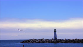 A Lighthouse at the Sata Cruze Royalty Free Stock Photo