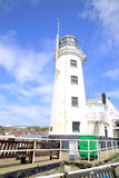 Lighthouse, Scarborough, Yorkshire. Royalty Free Stock Image