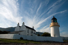Lighthouse in Scotland. Loch Linnhe lighthouse in the highlands of Scotland Royalty Free Stock Photo
