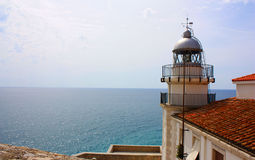 Lighthouse on the sea. Royalty Free Stock Image