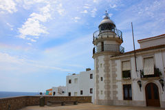 Lighthouse on the sea. Royalty Free Stock Photography