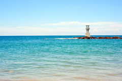 A lighthouse on sea Royalty Free Stock Images