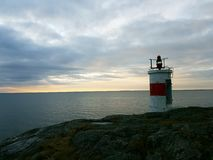 Lighthouse. By the sea Stock Photo