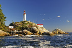 Lighthouse by the sea in the afternoon Royalty Free Stock Photo