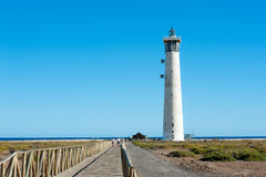 Lighthouse with the sea in the background Royalty Free Stock Photo